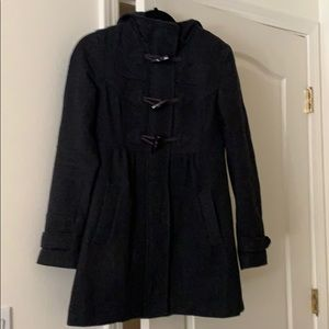 Dark Gray Peacoat w/ button details
